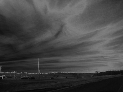 Purcell, OK Black and white sky