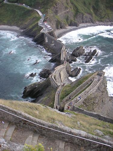 Escales des d'alt de San Juan de Gaztelugatxe