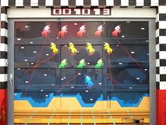 unicorn atari (the bonnie blues) Tags: sanfrancisco city streetart game building colors graffiti alley paint unicorns