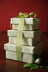 The Pan Dan Tower (The Fruit Company) Tags: holiday gifts pear present ribbon boxes occasion thefruitcompany gifttower