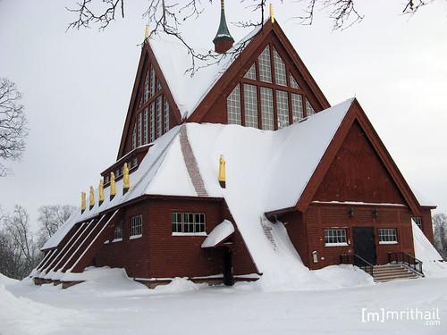Kiruna - Kyrka outside