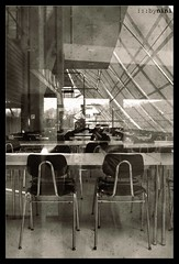 Breaks at the cafeteria (►bynini◄ [slightly away]) Tags: old school architecture vintage chairs tables cafeteria mensa stühle schule tische nikond70sbyniniginger2003 samuelvonpufendorfgymnasium