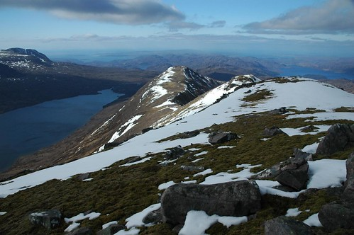 The Beinn an Eoin ridge pointing north west