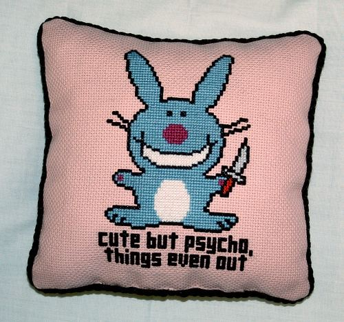 Cute But Psycho Pillow