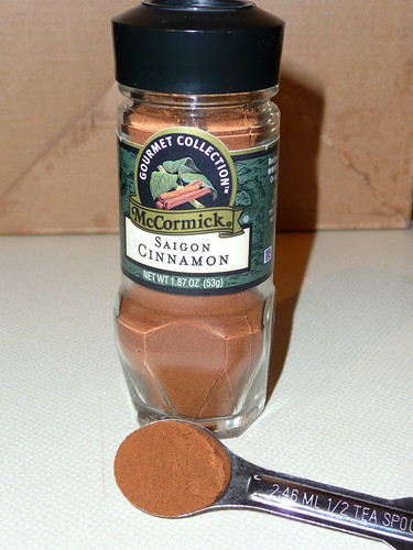 1/2 teaspoon of cinnamon a day