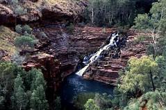 Fortuescue Falls from afar (TravelingFio) Tags: film waterfall australia slidefilm westernaustralia provia100f karijini karijininationalpark fujiprovia100f fortescuefalls