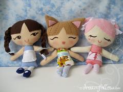 Lolly Dollies! (merwinglittle dear) Tags: cute girl toy doll handmade embroidery felt plush lolly dolly rag dollies