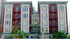 Apartments (nguy1) Tags: sanfrancisco california red white building stairs apartment apartmentbuilding