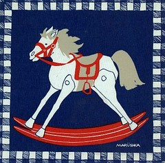 Marushka - rocking horse (blue and red)