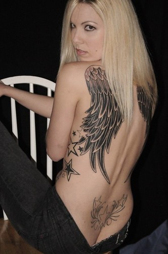 angle wing tattoos. Angel Wings will look awesome