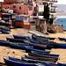 Barques de pêche sur la plage de Taghazout