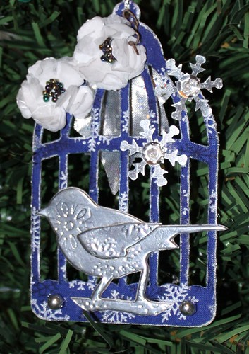 Winter Birdcage Ornament