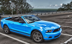 Hot! (Robby Ryke) Tags: blue ford colors car convertible mustang hdr