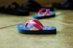 161/365 - Tsinelas (norenkay) Tags: pink blue baby 365 photochallenge tsinelas rubberslippers babyslippers 2011inphotos