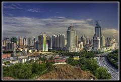 Urumqi cityscape, Xinjiang, China (M.Bob) Tags: china city travel sky clouds canon asia cityscape xinjiang silkroad kkh sog 10faves flickrsbest anawesomeshot superaplus aplusphoto great123