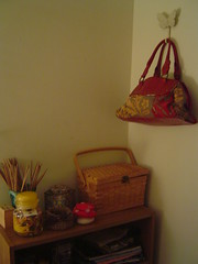 Knitting basket and shelf
