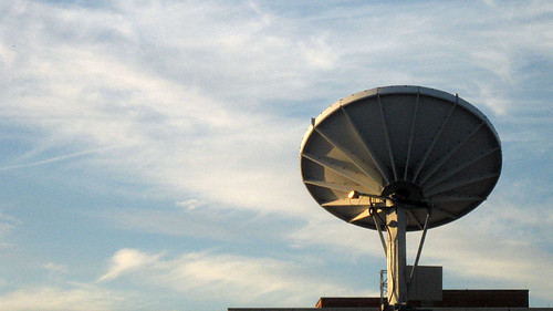 Sunrise on Satellite Dish