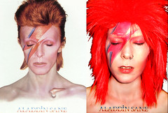 Mebowiealaddin1done copy (spiltxosugar) Tags: red david halloween female bowie costume makeup sugar wig cheryl lightning aladdin ziggy stardust spilt sane