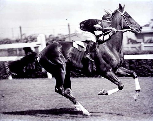Jimmy Pike on Phar Lap c.1930