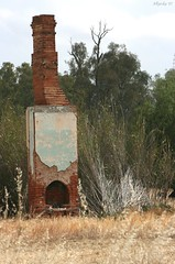 All that remains (Allyeska) Tags: chimney house home rural fireplace decay bricks country cottage australian australia victoria vic decaying shepparton benalla