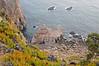 Looking down the cliffs (gornabanja) Tags: ocean sea plants green portugal nature landscape coast seaside cabo nikon rocks d70 cliffs da roca cabodaroca ilustrarportugal