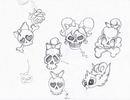 girly skull tattoos. girly skull! tattoo This is the first part of a