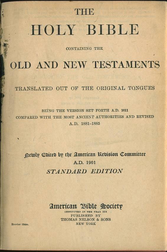 American Standard Version Internet Bible Catalog