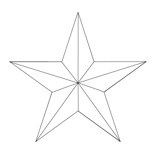 Star Tattoo Outline. nautical-star-tattoo-1-outline