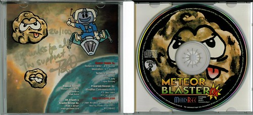 Meteor Blaster DX Signature Edition Inside Jewel Case with CD