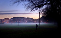 The Meadows (davydubbit) Tags: shadow mist scotland twilight edinburgh streetlights shady citycentre themeadows