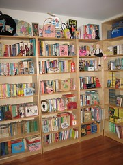 study (sparkleneely) Tags: vintage book books bookshelf collection teen ponytail bookshelves ya