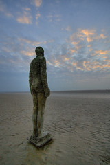 Another Place (mobilevirgin) Tags: sculpture liverpool canon wideangle hdr gormley crosby antonygormley 30d anotherplace satues gapc