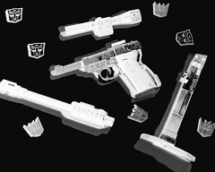 Man Ray Megatron (revlimit) Tags: blackwhite gun scope transformers xray g1 stalk megatron decepticon manray whiteblack silencer cwd nikond40 cwd16 cwd351 cwdweek35 2880f3356