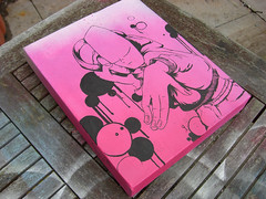 for melvind (little-lil) Tags: pink pen painting spray dude lil posca melvind