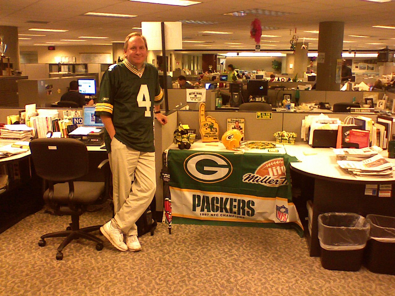 Jerry and the Packers shrine