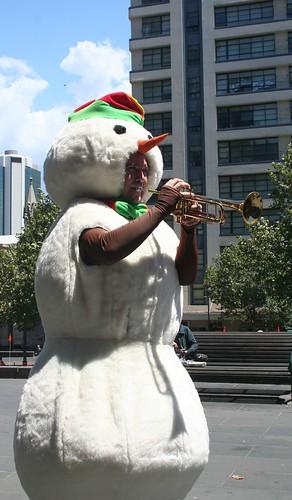 Snowman in Melbourne