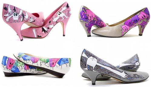 hand painted fashion shoes