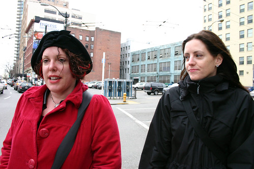 Lisa and Allison, walking to the Public Market