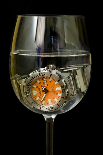 Seiko Orange Monster Wine Tasting