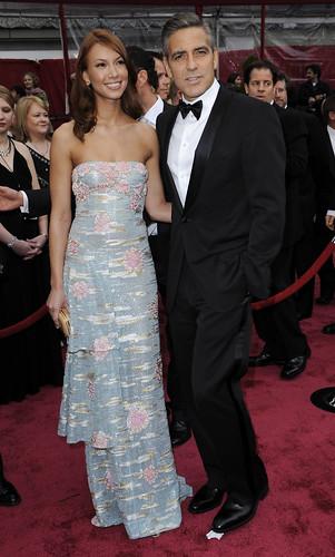 George Clooney y Sarah Larson Premios Oscar 2008