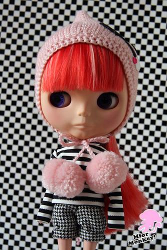 MforM Pink&Black Deery Lou Hoodie