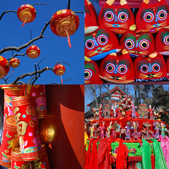 Daguanyuan Spring Festival Fair (NowJustNic) Tags: china tree catchycolors garden nikon mosaic tiger beijing fair chinesenewyear newyear  lantern   lunarnewyear firecrackers  springfestival chunjie sedanchair  daguanyuan  grandviewgarden  d80  yearoftherat tigerpillow nikkor18135mm  yearofthemouse