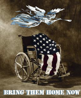 wheelchair flag angel