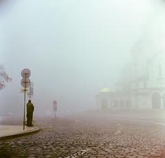 Nevsky Cathedral on a foggy morning, Sofia (Vinzent M) Tags: weltaflex sofia bulgaria trioplan fog superia tarkovsky meyeroptikgörlitztrioplan3575mm 120film zniv welta tlr cathedral
