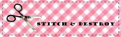 stitch and destroy, cathy pitters, crafty blog, bossanovababy