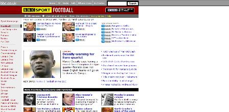 Old BBC sport section