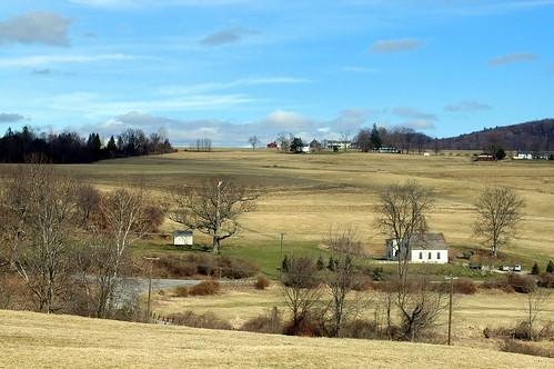 sunny day on twin oaks field