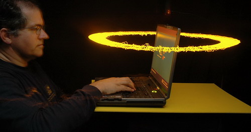 Guard your Laptop with Electric Rings of Death!