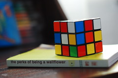 ~ (brucie_ate_sammy) Tags: 50mm book quote rubikscube sooc perksofbeingawallflower stephenchbosky boringsummerdays brucieatesammy 320onexplore bookinspired