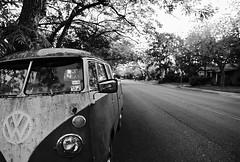 volkswagen (xgray) Tags: street blackandwhite bw film vw analog truck upload canon austin eos prime blackwhite texas kodak pickup neighborhood iphoto 24mm kodakbw400cn duval eos1n volkswagon 400cn type2 kodakprofessionalbw400cn 1n ef24mmf14l ef24mmf14lusm postedtophotographersonlj